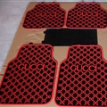 Cool Gucci Genenal Automotive Carpet Car Floor Mats Rubber 5pcs Sets - Black Red