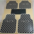 Cool Gucci Genenal Automotive Carpet Car Floor Mats Rubber 5pcs Sets - Black White