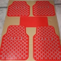 Cool Gucci Genenal Automotive Carpet Car Floor Mats Rubber 5pcs Sets - White Red