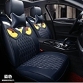 Cool Leather Fendi Owl Car Seat Covers Universal Pads Automobile Seat Cushions 8pcs - Blue