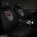 Cool Polyester Diamonds Fashion Gucci Cat Car Seat Covers Universal Pads Seat Cushions 6pcs - Black