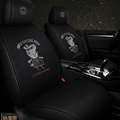 Cool Polyester Diamonds Fashion Gucci Page Car Seat Covers Universal Pads Seat Cushions 6pcs - Black