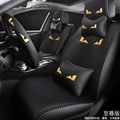 Cool Polyester Fashion Fendi Car Seat Covers Universal Pads Automobile Seat Cushions 11pcs - Black