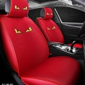 Cool Polyester Fashion Fendi Car Seat Covers Universal Pads Automobile Seat Cushions 6pcs - Red