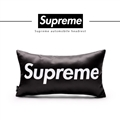 Cool Supreme 1pcs Polyester Peach Skin Car Neck Pillows Support Headrest - Black