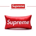 Cool Supreme 1pcs Polyester Peach Skin Car Neck Pillows Support Headrest - Red