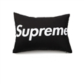 Cool Supreme 1pcs Polyester Peach Skin Car Waist Pillows Support Back Cushion - Black