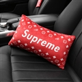 Cool Supreme LV 1pcs Plush Car Waist Pillows Support Back Cushion - Red