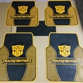 Cool Transformers Genenal Automotive Carpet Car Floor Mats Rubber 5pcs Sets - Black Yellow