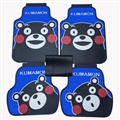 Cute Kumamon Genenal Automotive Carpet Car Floor Mats Rubber 5pcs Sets - Blue