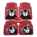 Cute Kumamon Genenal Automotive Carpet Car Floor Mats Rubber 5pcs Sets - Red