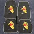 Cute Winnie the Pooh Genenal Automotive Carpet Car Floor Mats Rubber 5pcs Sets - Black Yellow