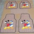 Disney Universal Automotive Carpet Car Floor Mats Latex 5pcs Sets - Beige Black