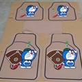 Doraemon Baseball Genenal Automotive Carpet Car Floor Mats Rubber 5pcs Sets - Beige Colorful