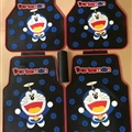 Doraemon General Auto Carpet Car Floor Mats Rubber 5pcs Sets - Blue Black