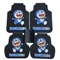 Doraemon General Automotive Carpet Car Floor Mats Rubber 5pcs Sets - Blue Black
