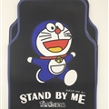 Doraemon Universal Automotive Carpet Car Floor Mats Rubber 5pcs Sets - Blue Black