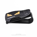 Fendi Cool ABS Car Sun Visor Clip Glasses Plaid Convenient Staff Clip - Black Yellow