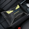 Fendi Cool Genuine Leather Car Tissue Paper Boxs Holder for Car Home - Black