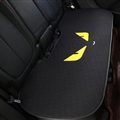 Flax Fendi 1 Pcs Back Pad Car Seat Covers Universal Pads Auto Seat Cushions - Black Yellow