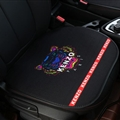 Flax Kenzo 1 Pcs Front Pad Car Seat Covers Universal Pads Auto Seat Cushions - Black Colorful