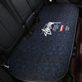 Flax Stussy 1 Pcs Back Pad Car Seat Covers Universal Pads Auto Seat Cushions - Dark Blue