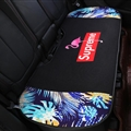 Flax Supreme Flamingo 1 Pcs Back Pad Car Seat Covers Universal Pads Auto Seat Cushions - Black Colorful