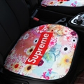 Flax Supreme Flower 1 Pcs Front Pad Car Seat Covers Universal Pads Auto Seat Cushions - Red Colorful