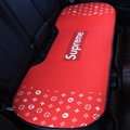 Flax Supreme LV 1 Pcs Back Pad Car Seat Covers Universal Pads Auto Seat Cushions - Red
