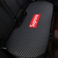 Flax Supreme Plaid 1 Pcs Back Pad Car Seat Covers Universal Pads Auto Seat Cushions - Black Red