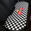 Flax Supreme Simpson 1 Pcs Back Pad Car Seat Covers Universal Pads Auto Seat Cushions - Black White