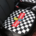 Flax Supreme Simpson 1 Pcs Front Pad Car Seat Covers Universal Pads Auto Seat Cushions - Black White
