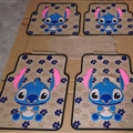 Flower Stitch General Automotive Carpet Car Floor Mats Latex 5pcs Sets - Blue Beige