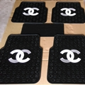 Gorgeous Chanel Genenal Automotive Carpet Car Floor Mats Rubber 5pcs Sets - Black White