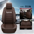 Gorgeous Leather Supreme Print Car Seat Covers Universal Pads Automobile Seat Cushions 6pcs - Coffee