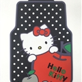 Hello Kitty Apple Pot Car Carpet Car Floor Mats Rubber 5pcs Sets - Red Black