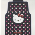 Hello Kitty General Auto Carpet Car Floor Mats Rubber 5pcs Sets - Pink Black