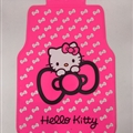 Hello Kitty General Auto Carpet Car Floor Mats Rubber 5pcs Sets - Pink