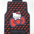 Hello Kitty General Auto Carpet Car Floor Mats Rubber 5pcs Sets - Red Black