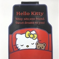 Hello Kitty General Car Carpet Car Floor Mats Rubber 5pcs Sets - Red Black