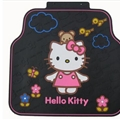 Hello Kitty Universal Auto Carpet Car Floor Mats Rubber 5pcs Sets - Colorful Black