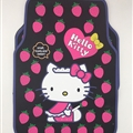 Hello Kitty Universal Auto Carpet Car Floor Mats Rubber 5pcs Sets - Pink Black