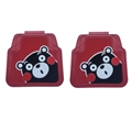 Lovely Kumamon Genenal Automotive Carpet Car Floor Mats Rubber 2pcs Sets - Red