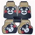Lovely Kumamon Genenal Automotive Carpet Car Floor Mats Rubber 5pcs Sets - Black Beige