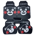 Lovely Kumamon Genenal Automotive Carpet Car Floor Mats Rubber 5pcs Sets - Black