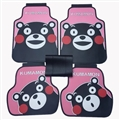 Lovely Kumamon Genenal Automotive Carpet Car Floor Mats Rubber 5pcs Sets - Pink Black