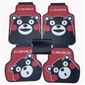 Lovely Kumamon Genenal Automotive Carpet Car Floor Mats Rubber 5pcs Sets - Red