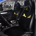 Luxury Crystals Plush Fendi Car Seat Covers Gorgeous Universal Auto Seat Cushion 9pcs Sets - Black