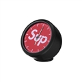 PVC Vehicle Ornaments Interior Decoration Clock Ornaments On-board Clock Ornaments Supreme - Black Red