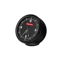 PVC Vehicle Ornaments Interior Decoration Clock Ornaments On-board Clock Ornaments Supreme - Black